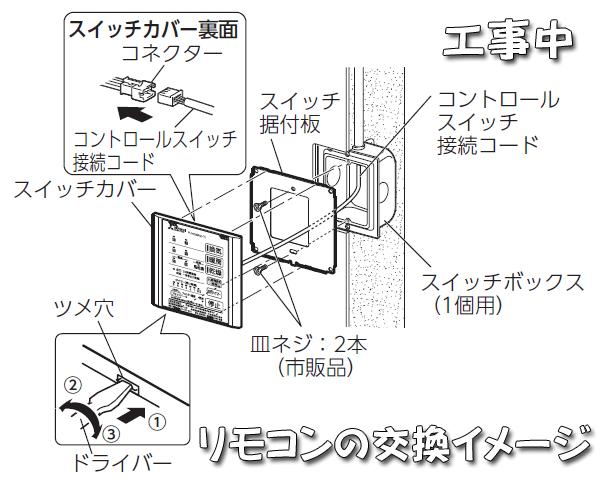 V141BZリモコン交換イメージ