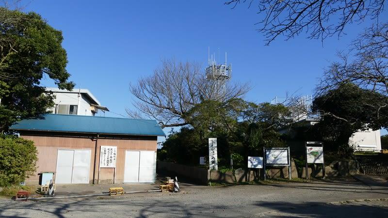 武山の山頂付近
