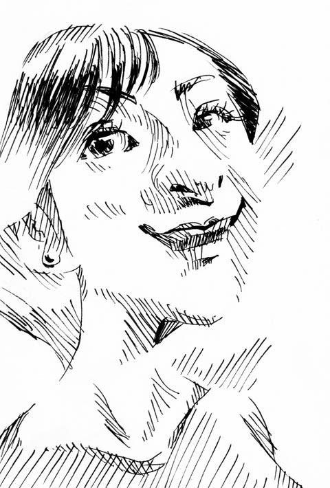 広末涼子似顔絵イラスト画像