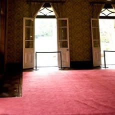 「漂白剤をこぼしてしまったカーペット…目立」の質問画像
