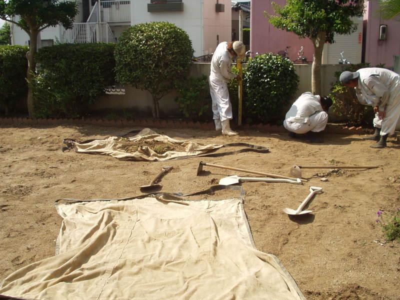庭園改修現場2