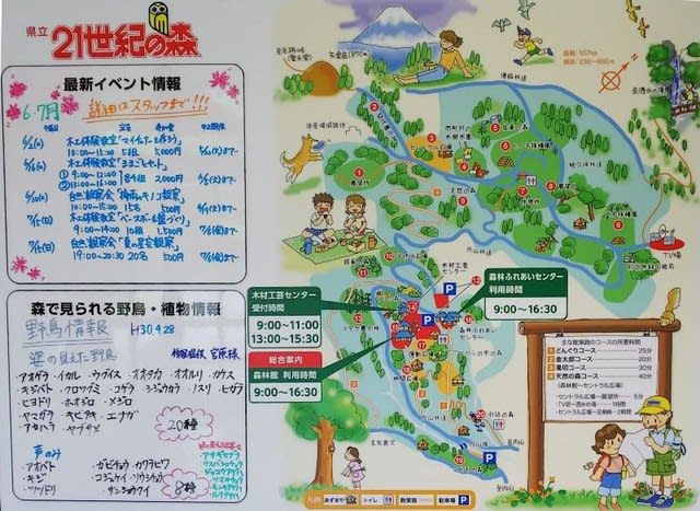 21世紀の森園内マップ