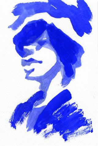 米津玄師似顔絵画像