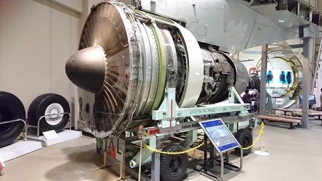 ジェット機のエンジン