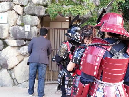 秋の安芸宮島で侍がおもてなし -...
