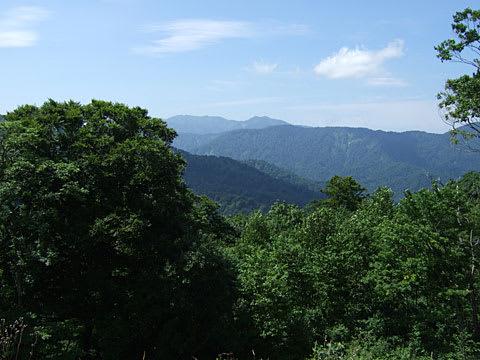 津軽峠の駐車場からの眺望