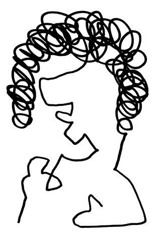 篠山紀信の似顔絵