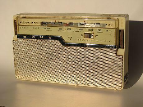 古いトランジスタラジオ - 地理の部屋と佐渡島