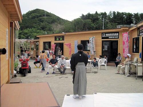 女川コンテナ村商店街