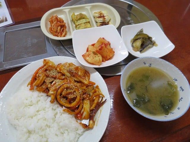 韓国式イカ炒め
