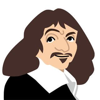 ルネ・デカルトの似顔絵