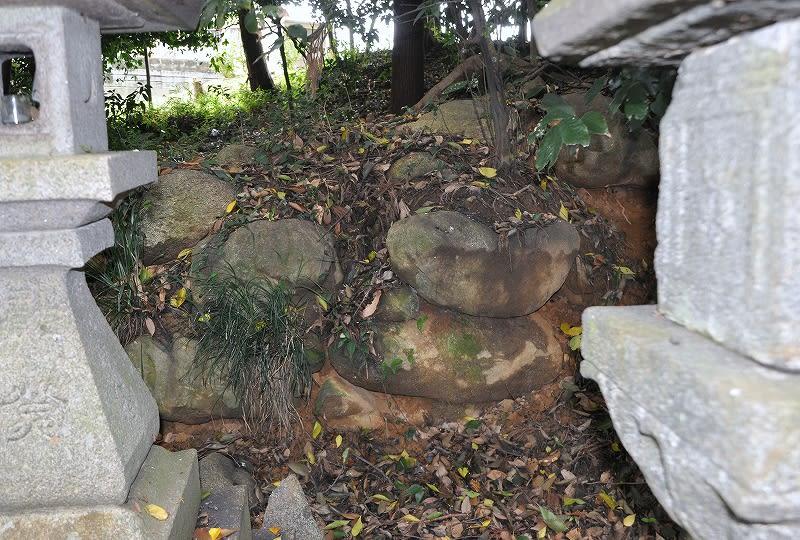八坂神社古墳の側壁