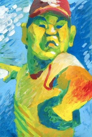 田中将大投手の似顔絵イラスト画像