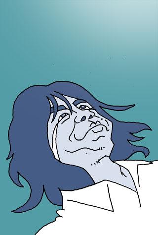 <br> エレファントカシマシの宮本浩次さんの似顔絵