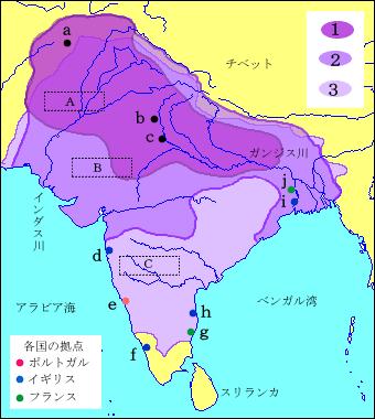 地図問題 ムガル帝国の領域の拡大 - ベック式!暗記法ブログ TOP
