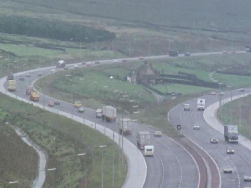イギリスの高速道路M62の中にと...