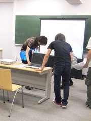 20080526後藤ゼミでトラブルが発生したときの写真