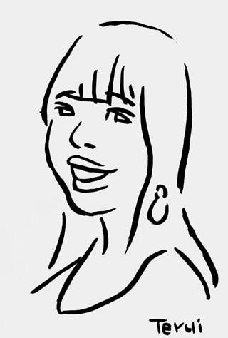 藤田ニコル似顔絵イラスト画像