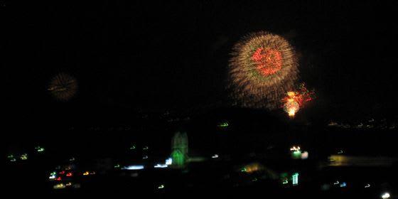 遠くから「関門海峡花火大会」 130813 - ラブリーな日々