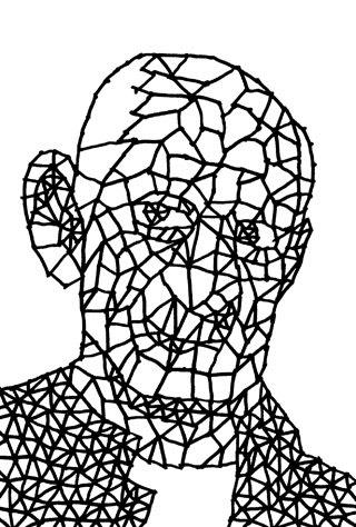 パブロ・ピカソの似顔絵