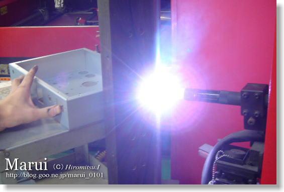 精密板金 丸井工業 NC制御によるTIG溶接