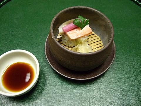 南津軽錦水 凌ぎ 蟹と燻製鯖鮨