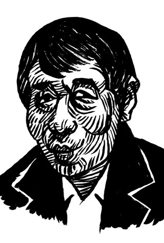 寺山修司の似顔絵