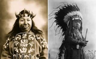 1900年代に撮影された、アメリカ先住民(ネイティブ・アメリカン)の ...