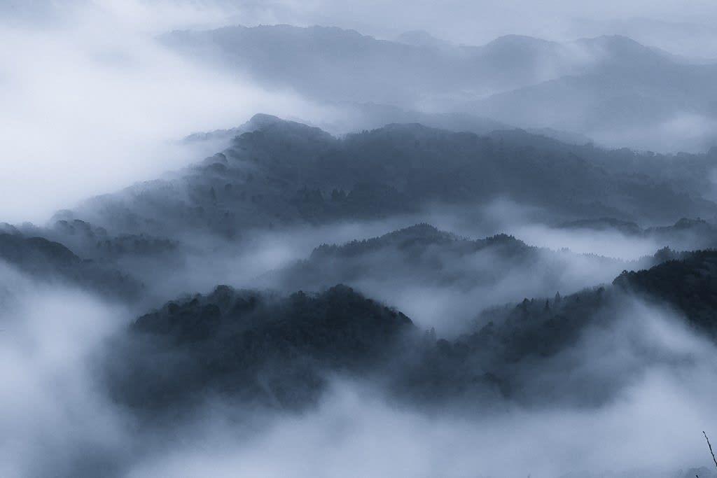 九十九谷のダブルトーン写真