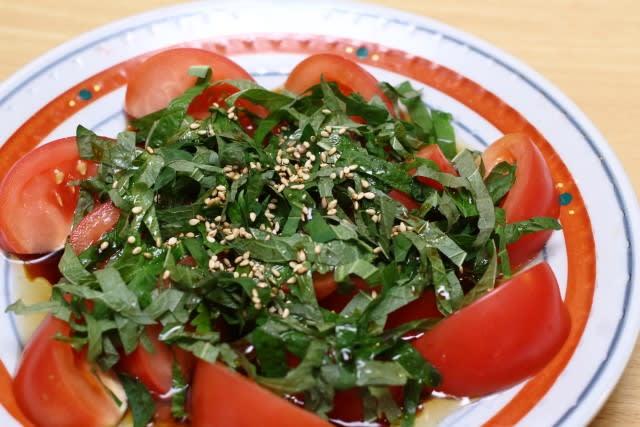 トマト 大葉 サラダ