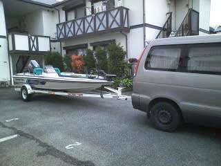 今日はボート引取!