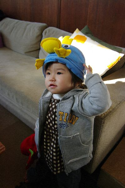 ペンギンの着ぐるみ帽子