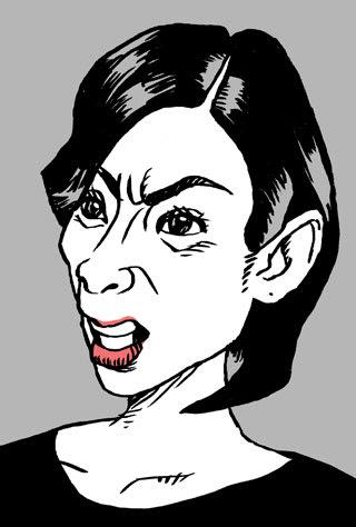 黒木瞳似顔絵イラスト画像