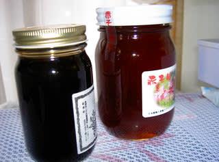赤・白の蜂蜜