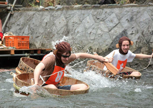 第57回松川タライ乗り競争