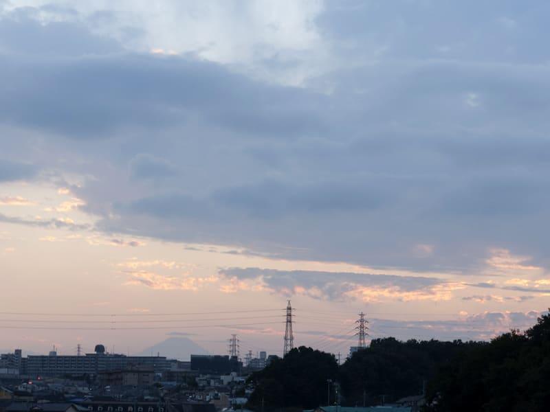 10月25日 富士山の夕陽