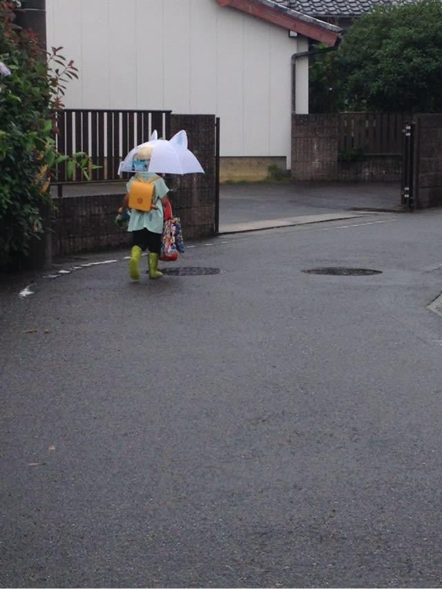 コマさんの傘 今宵の旨いめし子供日記