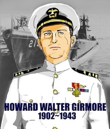 潜水艦「グラウラー」とギルモア...