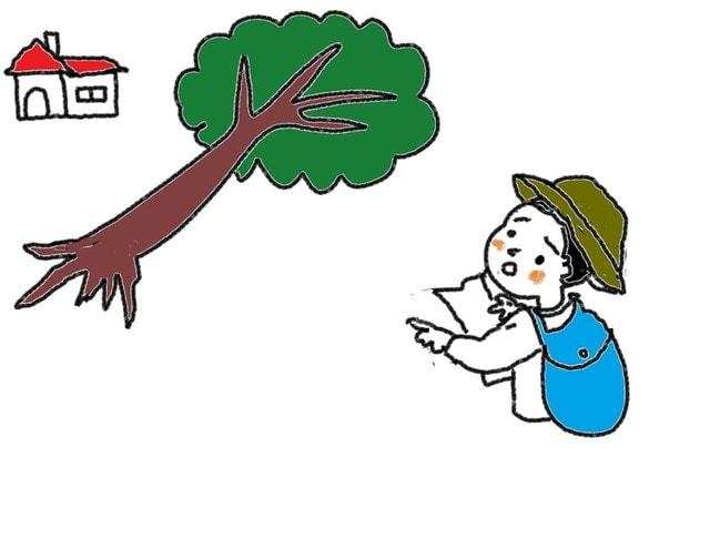39課 動詞 倒れます 通ります スーザンの 日本語教育 手描きイラスト