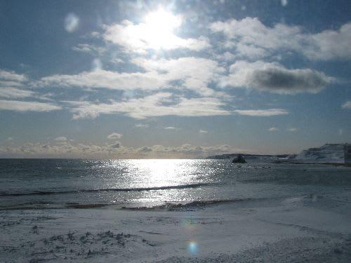 朝日を浴びて(オホーツク海)