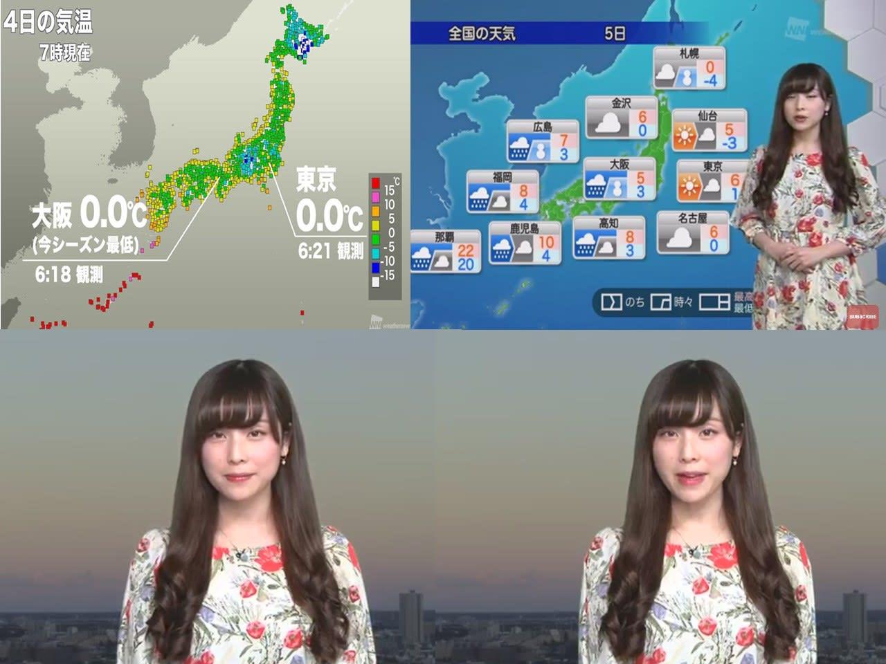 東京の月間天気予報 -