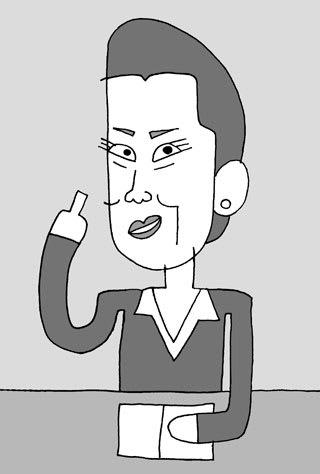 名取裕子の似顔絵