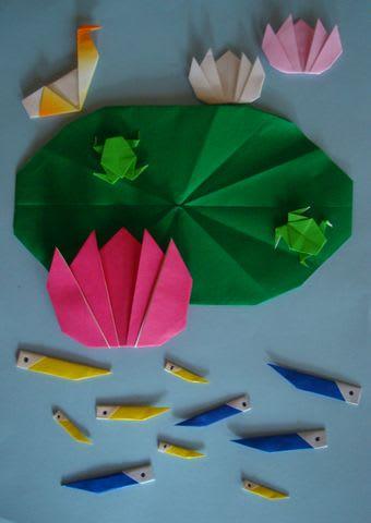 ハス の 花 折り紙