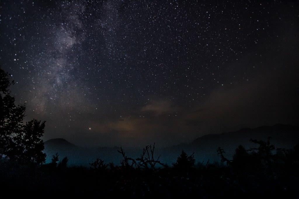 戦場ヶ原の星景写真