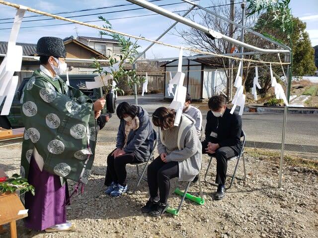 高知市春野町で行われたIさん邸の地鎮祭です。