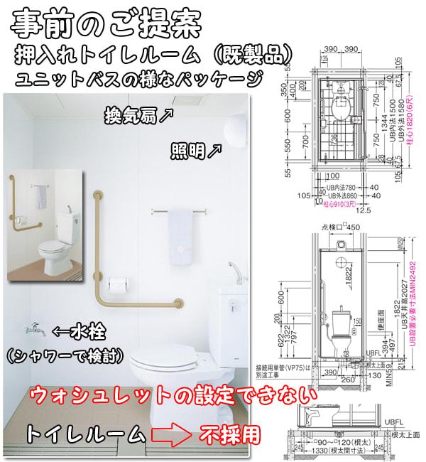 トイレ、事前のご提案