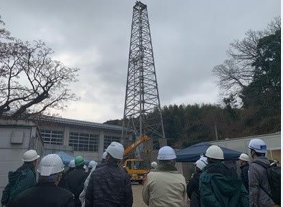 地熱井の現場研修会</a> <p class=