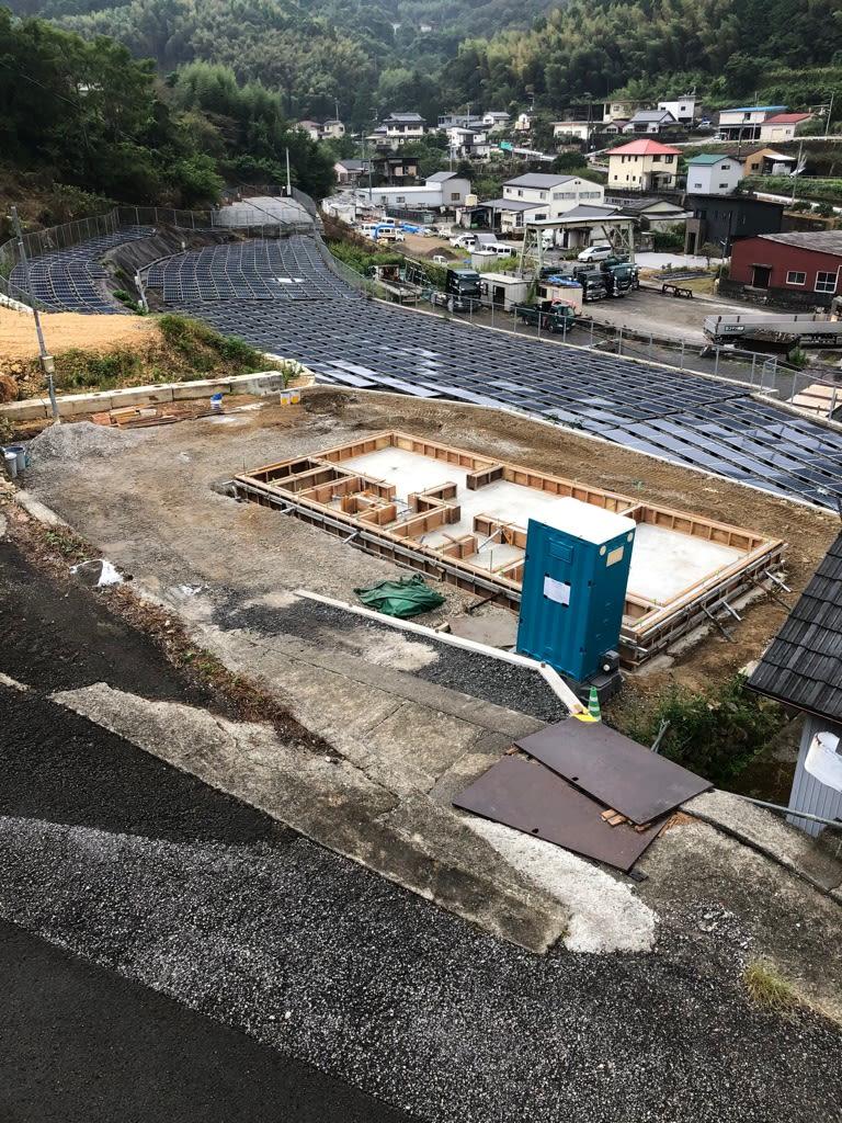 高知市朝倉の新築現場の基礎の写真です | 高知市で月々三万円で新築一戸建てを建てるならサンブランドハウス