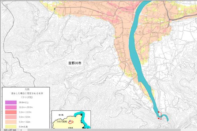 3河川の新想定浸水区域を公表。徳島県庁が。似通った色の組み合わせを ...