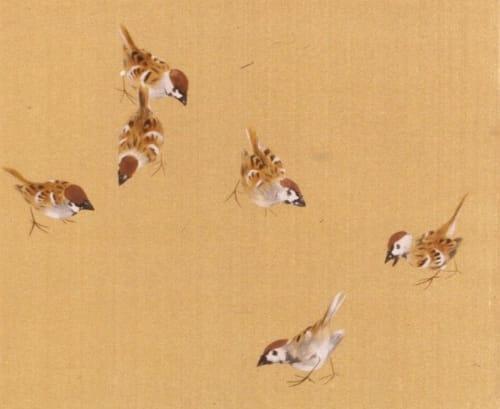 「竹内栖鳳 喜雀」の画像検索結果
